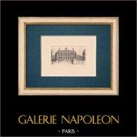 Vue de Paris - Le Nouvel Opéra de Paris - Palais Garnier | Gravure à l'eau-forte originale sur papier BFK Rives. Monogramme FF. 1910