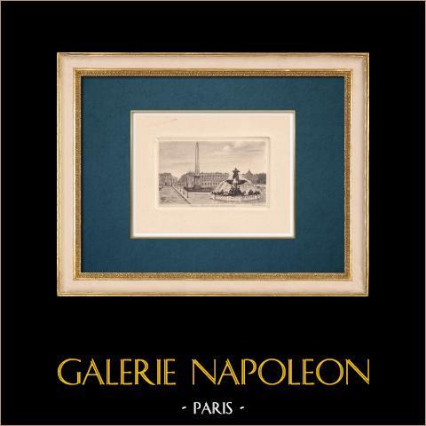 Gezicht op Parijs - Rive Droite - Place de la Concorde - Obelisk van Luxor |