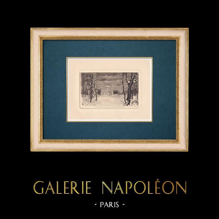 Gravures Anciennes & Dessins | Château de Bagatelle - Bois de Boulogne - Ile de France | Gravure à l'eau-forte | 1910