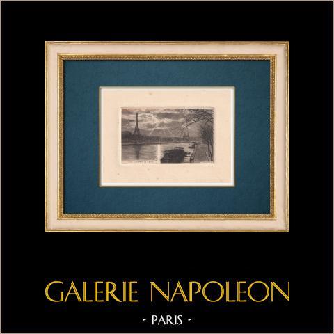 Gezicht op Parijs - Oevers van de Seine - Eiffeltoren |