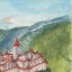 DÉTAILS 05 | Vue de Aoste - Vallée d'Aoste - Château de Bramafam - Italie (Henriette Quillier)