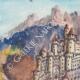 DÉTAILS 01   Vue de Ivano-Fracena - Château - Castel Ivano - Trentin - Italie (Henriette Quillier)