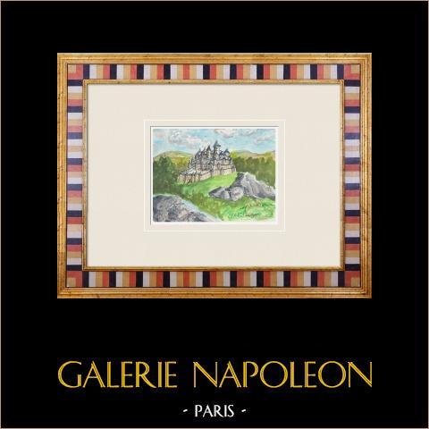Denkbeeldig Kasteel - Kasteel van Rauzan - Gironde - Frankrijk (Henriette Quillier) |