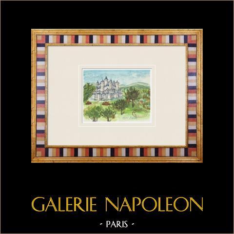 Denkbeeldig Kasteel - Duras - Lot-et-garonne - Frankrijk (Henriette Quillier) |