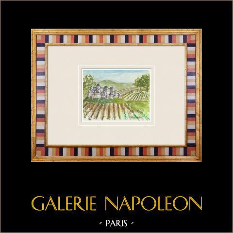 Denkbeeldig Kasteel - Tour de L'honneur - Overblijfsel van het Castillo - Lesparre-médoc - Gironde - Frankrijk (Henriette Quillier) |