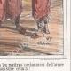 DÉTAILS 06 | Caricature - Invasion de l'Algérie par la France - Emir Abdelkader  - Il nous en a fait user des chaussures celui la !