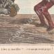 DÉTAILS 04   Caricature de la Guerre d'Indépendance Italienne - 1862 - Lion de Saint Marc - Vénétie - Autriche - Venise - Pourvu qu'il ne parvienne pas à ôter sa muselière !