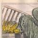 DÉTAILS 01 | Caricature de la Guerre d'Indépendance Italienne - 1862 - Lion de Saint Marc - Vénétie - Autriche - Venise  - Il mange trop !