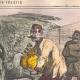 DÉTAILS 02 | Caricature de la Guerre d'Indépendance Italienne - 1862 - Lion de Saint Marc - Vénétie - Autriche - Venise  - Il mange trop !