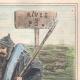 DÉTAILS 03   Caricature de la Guerre d'Indépendance Italienne - 1859 - Rives du Pô  - Farceurs d'autrichiens !