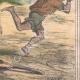 DÉTAILS 04 | Caricature de la Guerre d'Indépendance Italienne - 1859  -  Lazzarone ! vous oubliez votre guitare ! Je n'en ai plus besoin voici les siciliens !