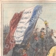 DETAILS 01 | Caricature of the Italian War of Independence - 1859 - Damned French Flag!