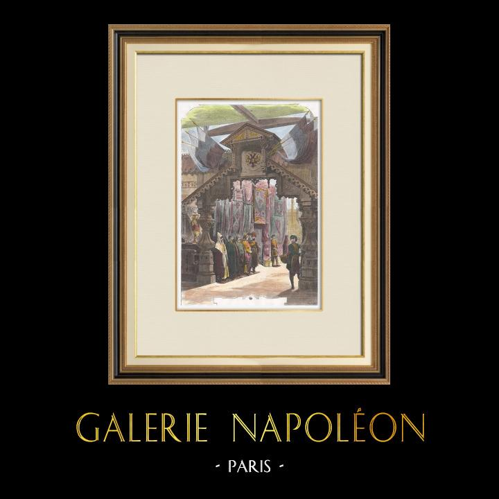 Antique Prints & Drawings   Paris Universal Exhibition of 1867 - Russia - Russian Pavilion - Caucasus   Wood engraving   1867