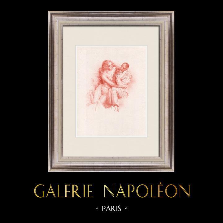 Gravures Anciennes & Dessins | Pièce de Théâtre - Education de Prince (Maurice Donnay) 2/62 | Lithographie | 1931