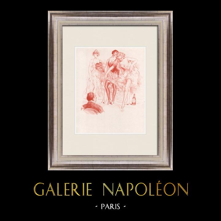 Gravures Anciennes & Dessins | Pièce de Théâtre - Education de Prince (Maurice Donnay) 3/62 | Lithographie | 1931