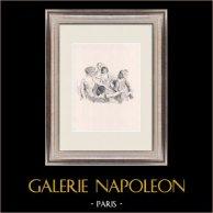 Pièce de Théâtre - Education de Prince (Maurice Donnay) 4/62 | Lithographie originale dessinée par Lucien Jonas. Epreuve «avant la lettre» sur papier chine. 1931