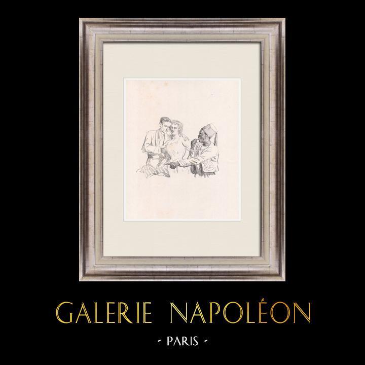 Gravures Anciennes & Dessins | Pièce de Théâtre - Education de Prince (Maurice Donnay) 27/62 | Lithographie | 1931