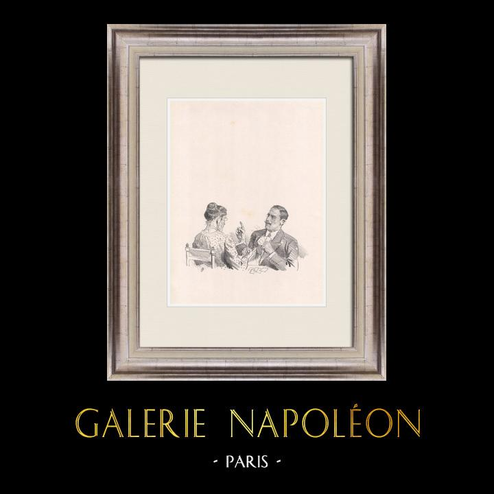 Gravures Anciennes & Dessins | Pièce de Théâtre - Education de Prince (Maurice Donnay) 31/62 | Lithographie | 1931