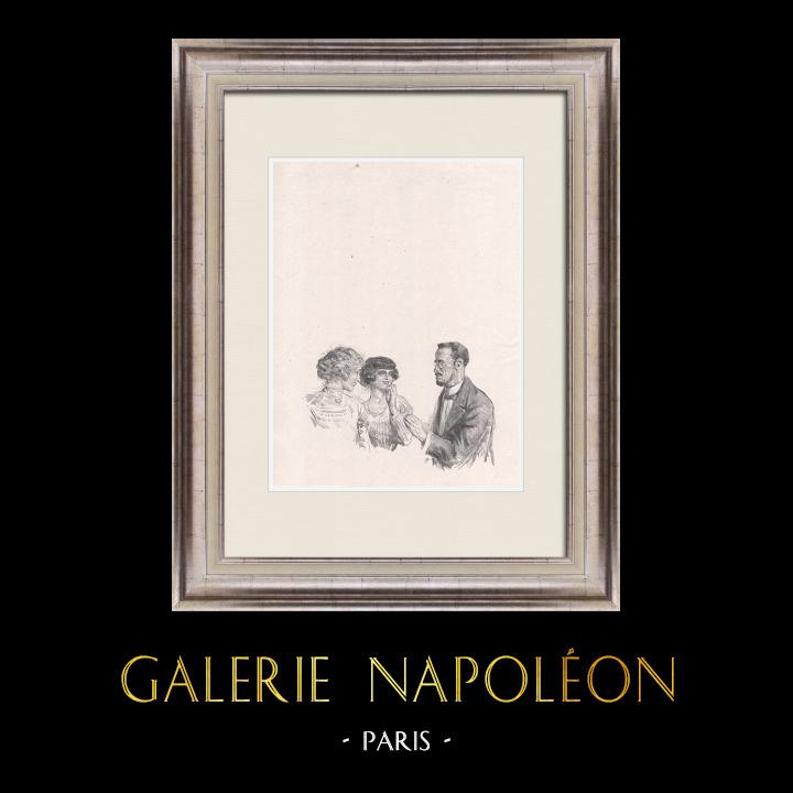 Gravures Anciennes & Dessins | Pièce de Théâtre - Education de Prince (Maurice Donnay) 55/62 | Lithographie | 1931