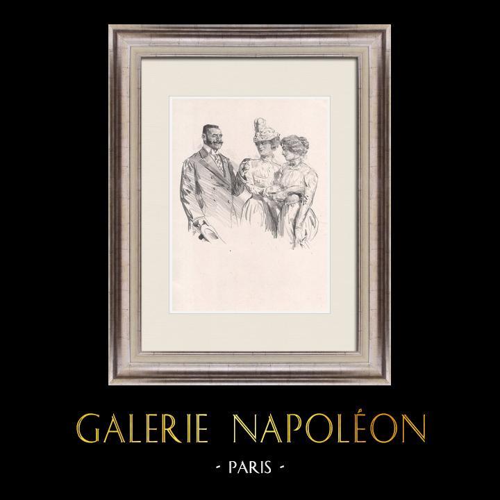 Gravures Anciennes & Dessins | Pièce de Théâtre - Education de Prince (Maurice Donnay) 56/62 | Lithographie | 1931