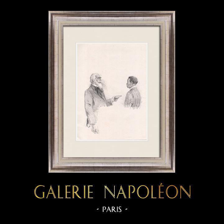 Gravures Anciennes & Dessins | Pièce de Théâtre - Education de Prince (Maurice Donnay) 62/62 | Lithographie | 1931