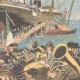 DETAILS 04   Italo-Ethiopian War - Boarding of the soldiers in Naples - 1895
