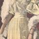DETAILS 05 | Portrait of Prince Emanuele Filiberto and Hélène of Orléans, his fiancee - 1895