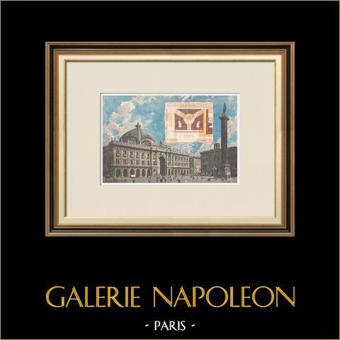 Rome - Galleria Colonna - Piazza Colonna - Kolom van Marcus Aurelius - Italië - 1895 |