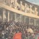 DÉTAILS 01 | Tauromachie - Taureau franchissant la barrière - Arènes - Barcelone (Espagne)