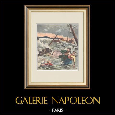 Katastrofa - Rozbicie Buzy dam - 1895 (Francja) |
