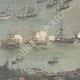 DÉTAILS 08   Revue navale dans le port de Kiel - Inauguration du Canal - Allemagne - 1895