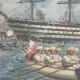 DÉTAILS 02 | Duc de Gênes et Duc d'York visitent l'ancien navire de Nelson à Portsmouth - Angleterre - 1895
