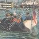 DÉTAILS 06 | Duc de Gênes et Duc d'York visitent l'ancien navire de Nelson à Portsmouth - Angleterre - 1895