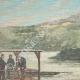 DÉTAILS 01   Navire de Tibère - Rome Antique - Un scaphandrier fouille le lit du Lac de Nemi - Rome - 1895