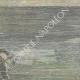 DÉTAILS 04   Navire de Tibère - Rome Antique - Un scaphandrier fouille le lit du Lac de Nemi - Rome - 1895