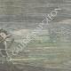 DÉTAILS 06   Navire de Tibère - Rome Antique - Un scaphandrier fouille le lit du Lac de Nemi - Rome - 1895