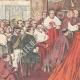 DÉTAILS 02   Le Consistoire papal - Le Pape remet le chapeau au nouveau cardinal - Vatican - Italie - 1895