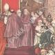 DÉTAILS 04   Le Consistoire papal - Le Pape remet le chapeau au nouveau cardinal - Vatican - Italie - 1895