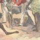 DÉTAILS 06 | La famine - Scène dans une rue de Calcutta - Inde - XIXème Siècle