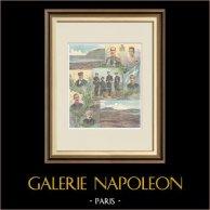 Evénements de Candie - Crète - Portraits et Vues - XIXème Siècle