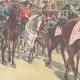 DÉTAILS 02 | Le Roi de retour de la revue militaire del Macao - Rome - 1897