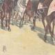 DÉTAILS 05 | Le Roi de retour de la revue militaire del Macao - Rome - 1897