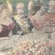 DÉTAILS 04 | Les Souverains d'Italie à Hambourg - Toast - Allemagne - 1897