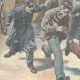DETAILS 02   Escape of prisoners from the police van in Rome - Italy - 1897