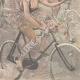 DÉTAILS 06   Nouvelle année - 1898 - Triomphe de la bicyclette