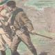 DÉTAILS 04   Guerre hispano-américaine - Journalistes américains faits prisonniers à Mariel - Cuba - 1898