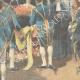 DETAILS 02   German Emperor Wilhelm II in front of Bismarck's coffin in Friedrichsruh - 1898