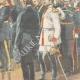 DETAILS 04   German Emperor Wilhelm II in front of Bismarck's coffin in Friedrichsruh - 1898