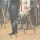 DETAILS 06   German Emperor Wilhelm II in front of Bismarck's coffin in Friedrichsruh - 1898