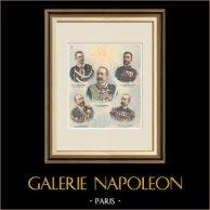 Italian Commanders in Africa - Italo-Ethiopian War - XIXth Century